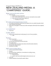 NEW ZEALAND MEDIA- A 'CHARTERED' GUIDE.
