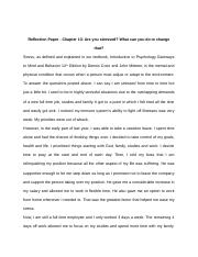 Reflection Paper - Chapter 13
