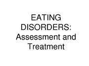 Eating Disorders General for nutrition students