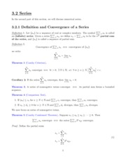 Math 501 Chapter 3 Series Notes