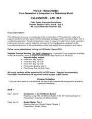 LAS 195 Summer Session I 2015 Syllabus1