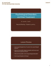Slides for Lesson 8 (all) - Psychological Disorders and their Treatment [Compatibility Mode]