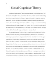 Nutr 3535 Social Cognitive Theory