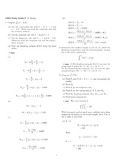 Exam 3 Study Guide Solution Fall 2007 on Engineering Mathematics III (Numerical Methods)