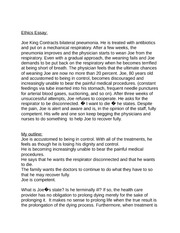 Ethics Essay (in class)