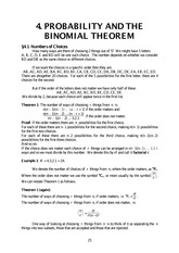 Chapter 4 Probability and the Binomial Theorem