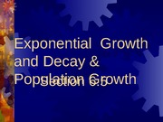 6.5 Growth and Decay and Pop. Growth
