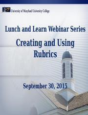 Creating and Using Rubrics.pptx