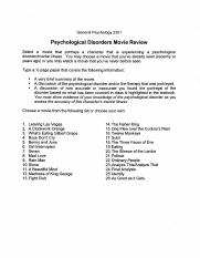 Extra Credit (Psychological Disorders Movie Review) (1)