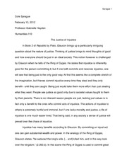 Hum Essay on Plato's Republic