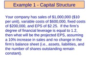 Chapter 14-Capital Structure Examples