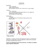 Biology Notes 1-30-08