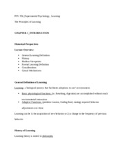 Class Notes_Learning EXAM#1