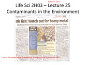 Lecture 25 Contaminants