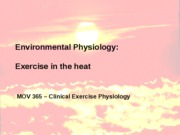 Exercise in the heat (Bb)