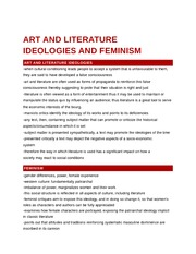 Art and Literature Ideologies and Feminism