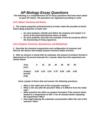 ap bio essay 2009 answers Ap biology essay questions unit course and to prepare you for the ecology portion of the ap biology exam (remember, the ap exam explain your answer essays.