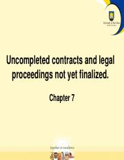 Uncompleted Contracts and Legal Proceedings not yet finalised.pdf