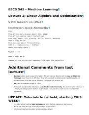 Lecture 2 - Linear Algebra and Optimization.html