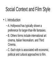 SocialContextandFilmStyle.ppt
