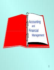 Financial Accounting overview