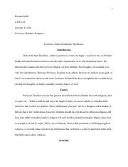 Role Model Review (Richard Dawkins-Final Draft)