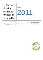 (FDN501) CUSTOMER'S BEHAVIOR ON CAMINCO'S INSURANCE SERVICES (Edit)