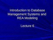 Lecture 6 Introduction to Database Management Systems and REA Modeling-Student