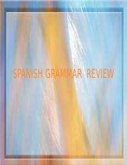 SPANISHGRAMMARREVIEW