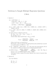 STAT 102 Multiple Regression Extra Practice Questions_Solutions