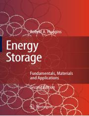 Energy Storage - Fundamentals, Materials and Applications 2nd ed - Robert A. Huggins (Springer, 2016