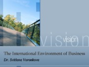 Lecture 7 International Environment of Organisations