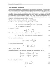 Time-Dependent Interactions Notes