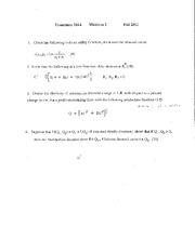 Sample Midterm 2 with Solutions