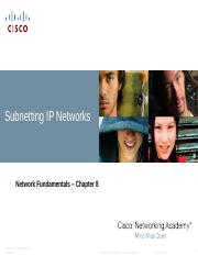 Chapter 8 Subnetting IP Networks