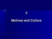 5. Motives and Culture