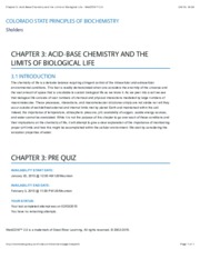 Chapter 3Acid-Base Chemistry and the Limits of Biological Life