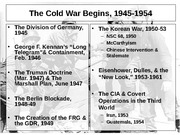 Lecture Fifteen Cold War 1945-54