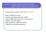 lecture_14_Introduction and Application of NMR Spectroscopy