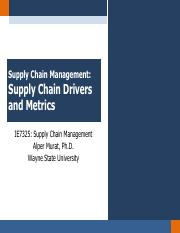 Chapter 3 - Supply Chain Drivers and Metrics