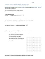 Section 8.1 An Introduction to the Quadratic Function The Standard Form.pdf