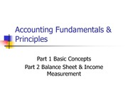 Accounting Fundamentals & Principles Lecture