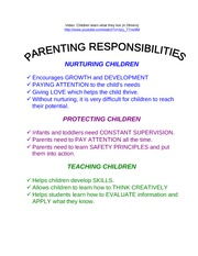 Parenting Responsiblities