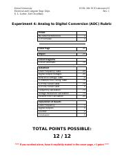 ECEL 303 - Lab 4 - Analog to Digital Conversion (ADC) Rubric.pdf