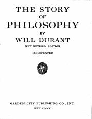 Story Of Philosophy - Will Durant.pdf