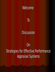 Strategies for Effective Performance Appraisal Systems Chapter 10(1)