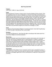 bad frog brewery claim brief