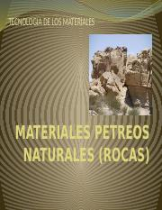MATERIALES PETREOS ROCAS, CLASE 3.pptx