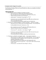 Exam 3 Study Guide on Introduction to Statistics