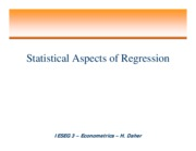Chap I Statistical Aspects of Regression